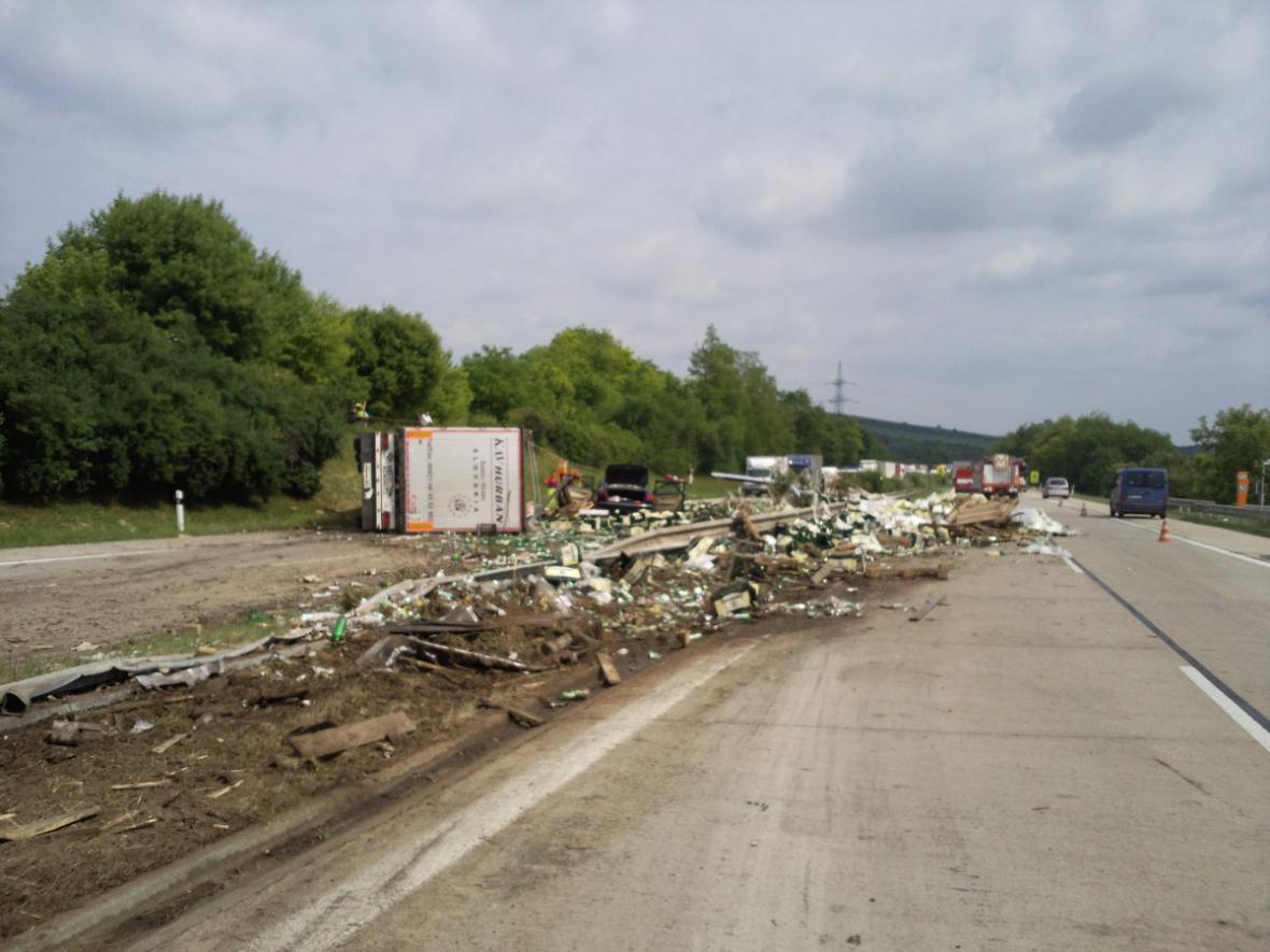 Nehoda kamionu u Hustopečí