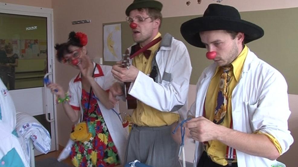 Zdravotní klauni při práci