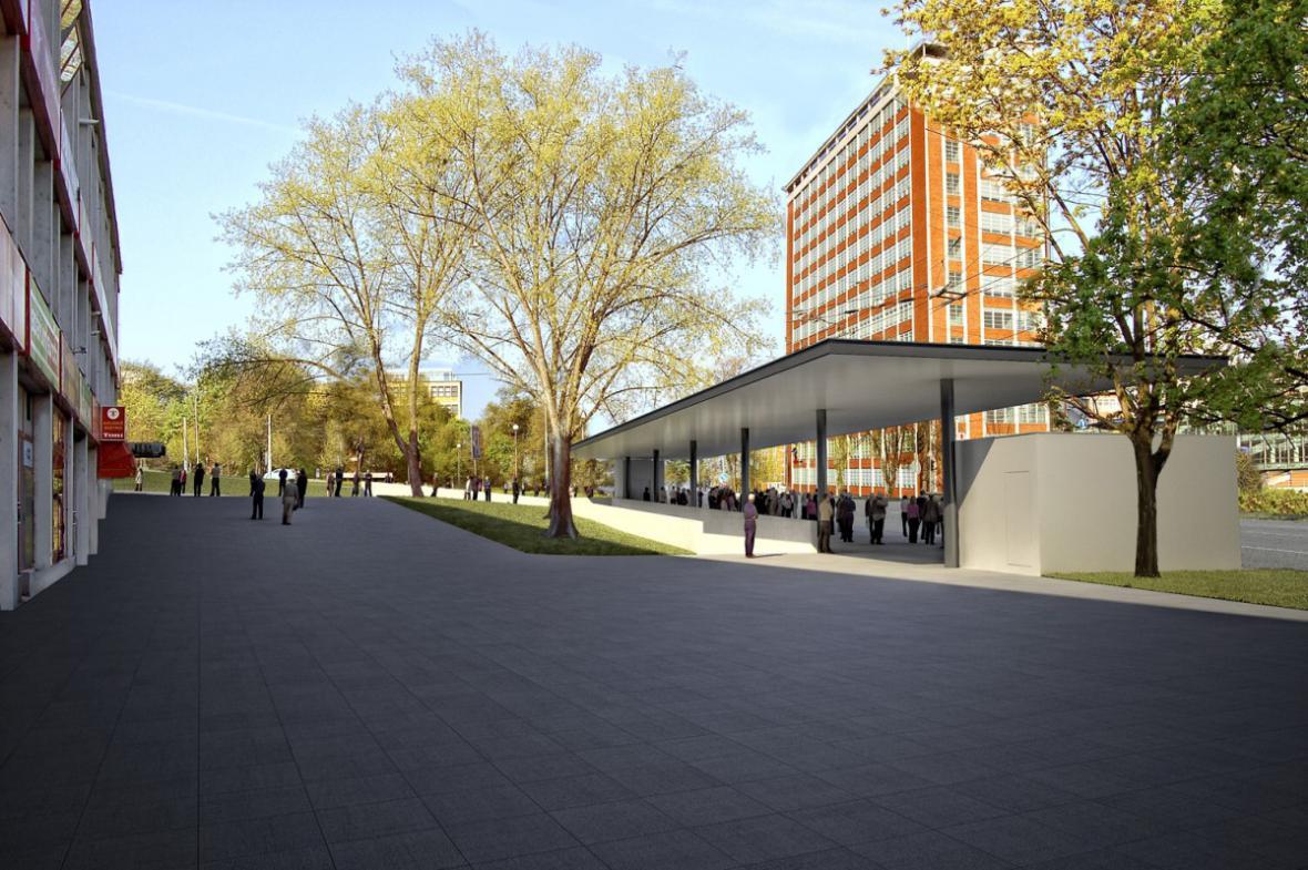 Vítězný návrh na revitalizaci podchodu ve Zlíně
