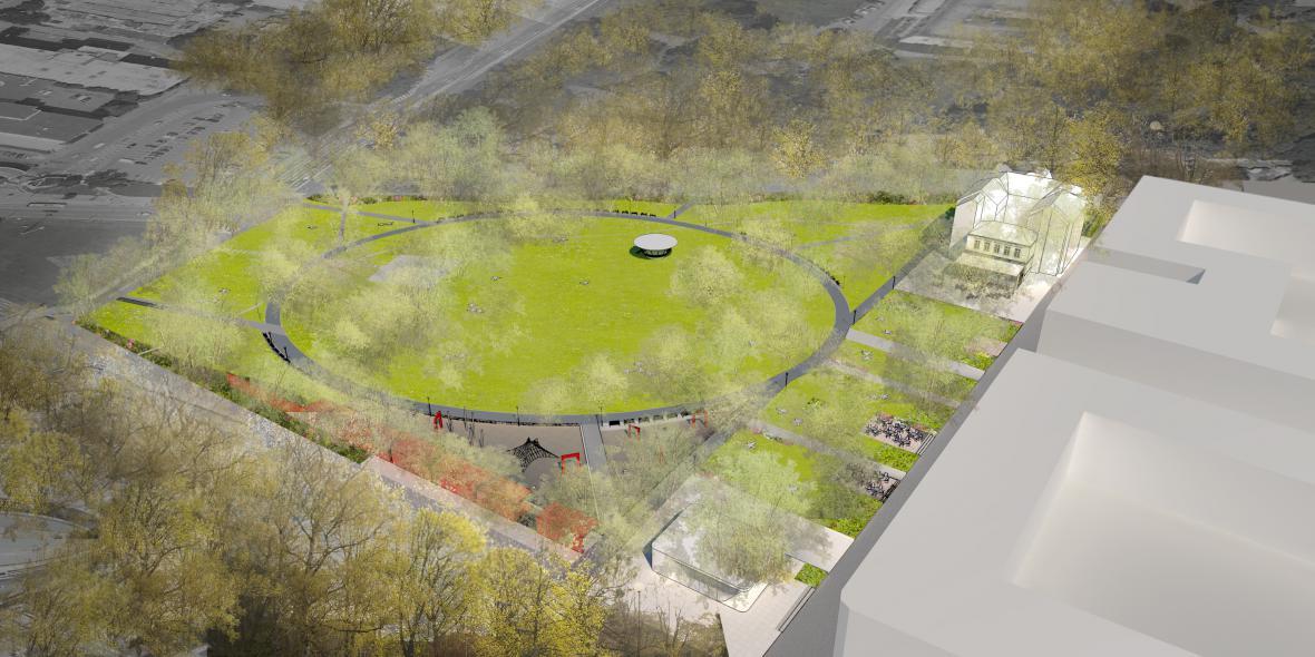Vítězný návrh revitalizace parku Komenského