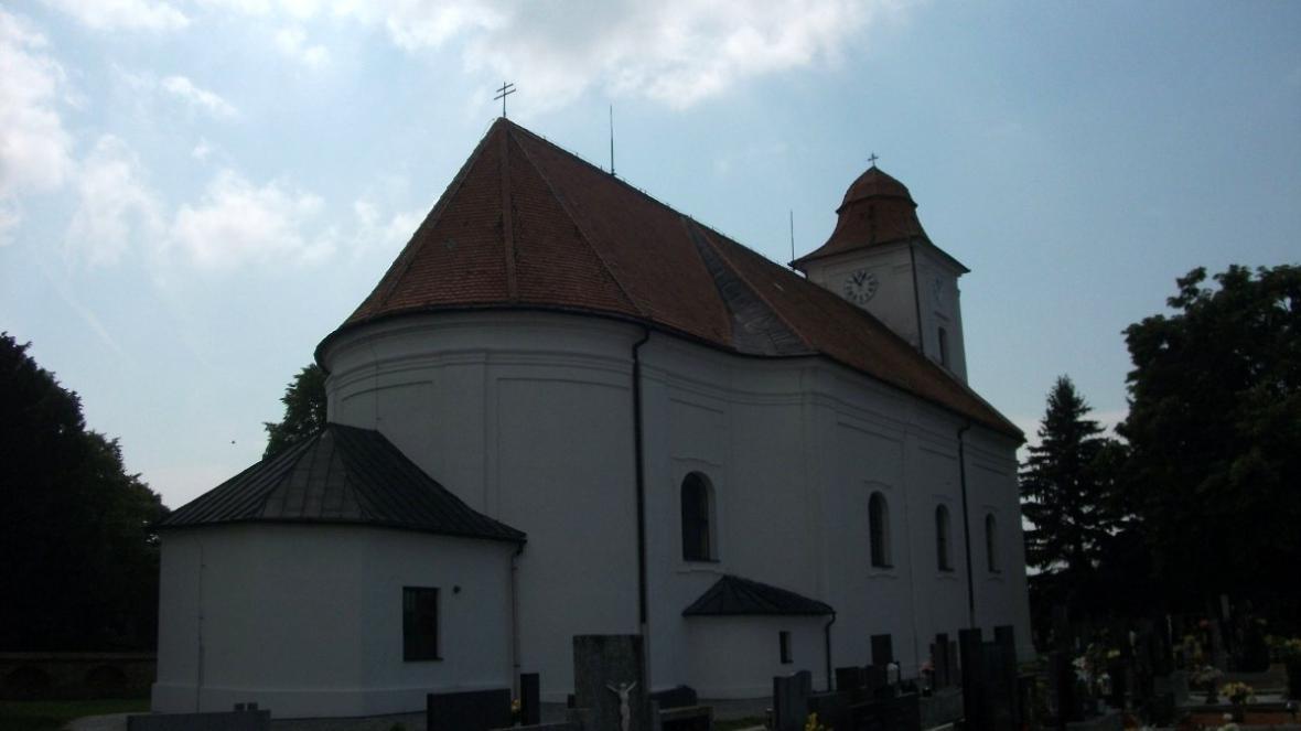 Kostel v Bořeticích