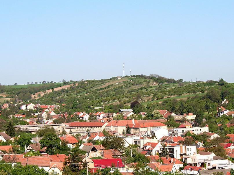 Pohled na město Klobouky u Brna