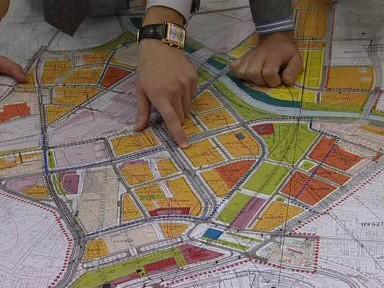 Plán jižní části města