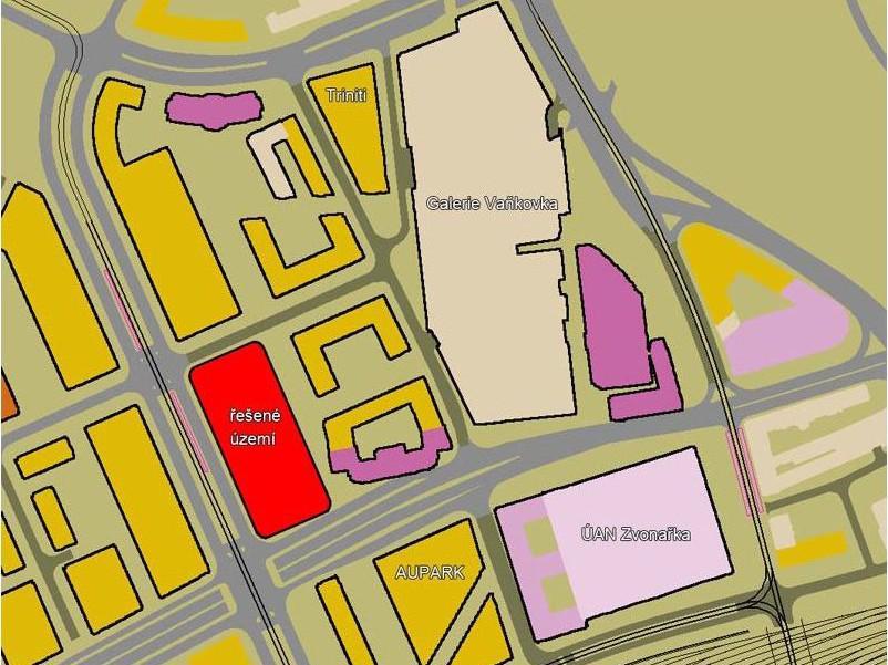 Prostor Trnitá-Opuštěná určený k revitalizaci