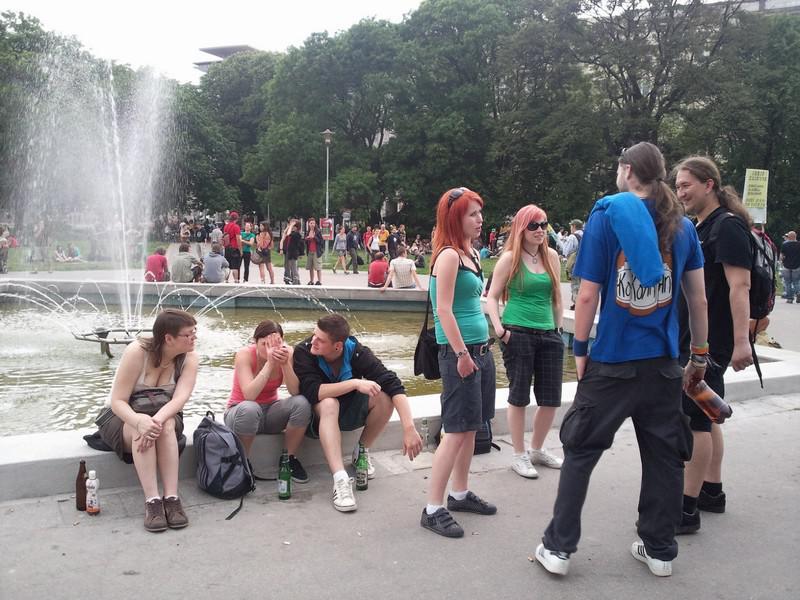 Účastníci StreetFestu se scházejí