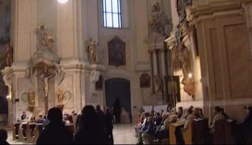 Interiér chrámu ve Křtinách