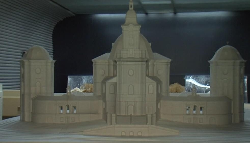 Model chrámu Jména Panny Marie