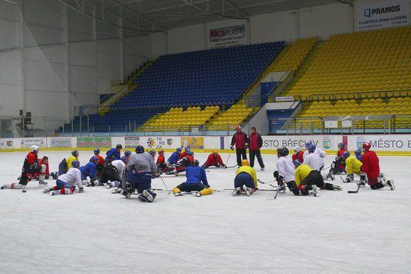 Hokejisté HC Břeclav s trenéry