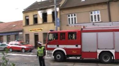 Při požáru na ulici Horova uhořel muž