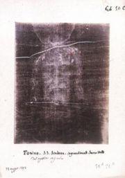 Otisk Ježíšova obličeje na Turínském plátně
