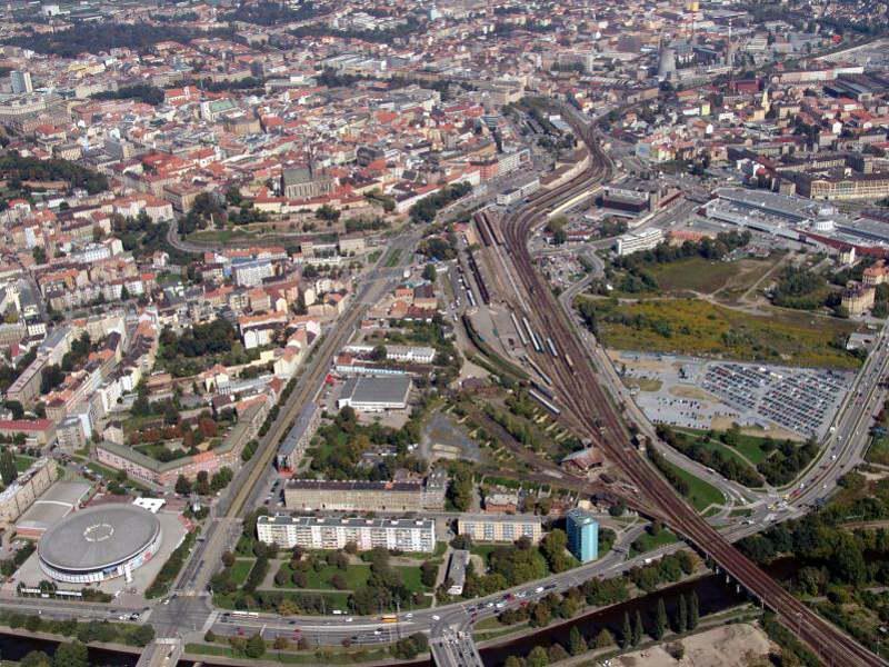 Brno letecky, stávající vlakové nádraží