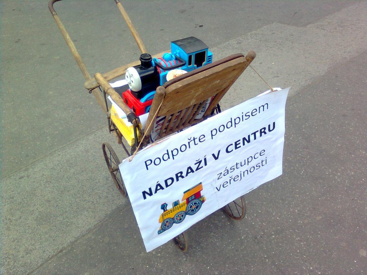 Petice proti odsunu nádraží z centra Brna