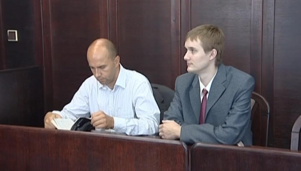 Obžalovaný Michal Lukš u soudu