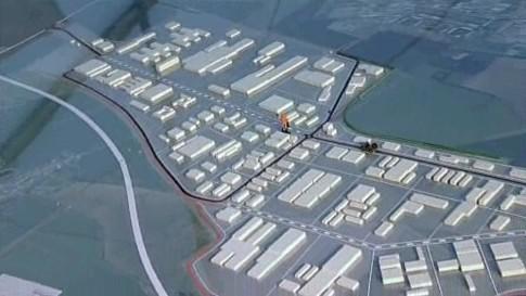 Model průmyslové zóny v Holešově