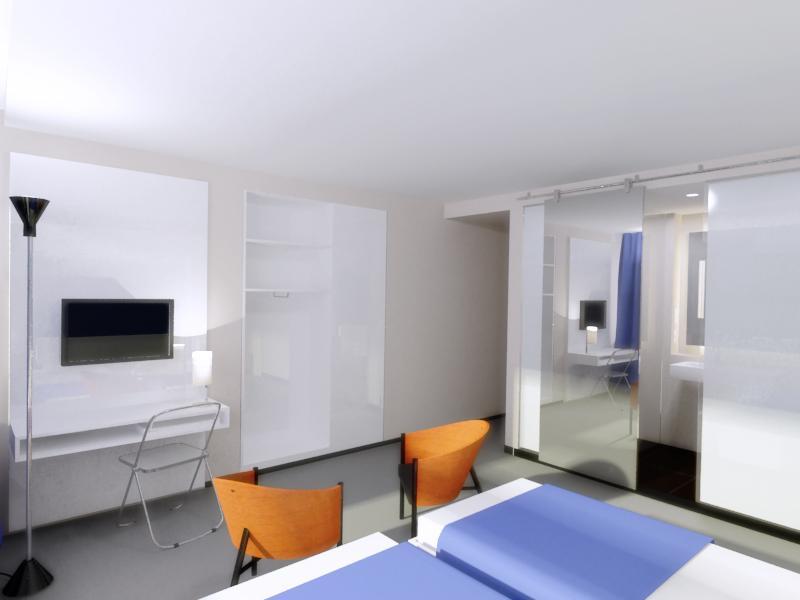 Vizualizace interiéru hotelu Avion