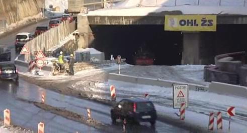 Stavba Královopolských tunelů na začátku prosince 2010