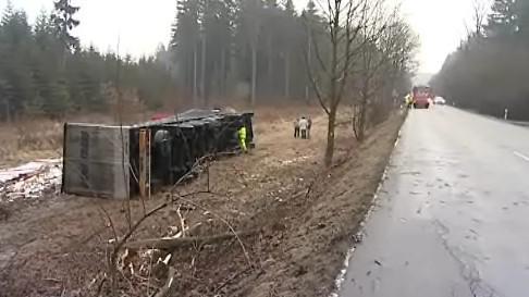 Hromadná nehoda u Přibyslavic