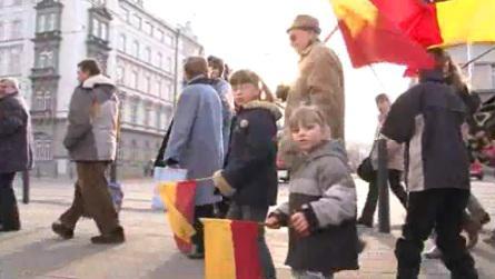 Pochod Moravanů Brnem