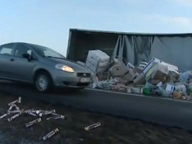 Nehoda kamionu zablokovala dálnici D1