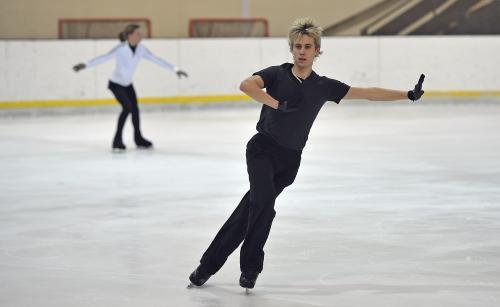 Michal Březina na tréninku