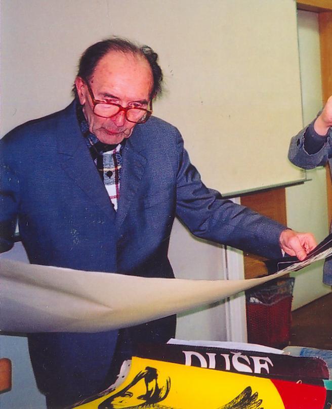 Mirko Riedl přednáší o své plakátové sbírce pro KPVU
