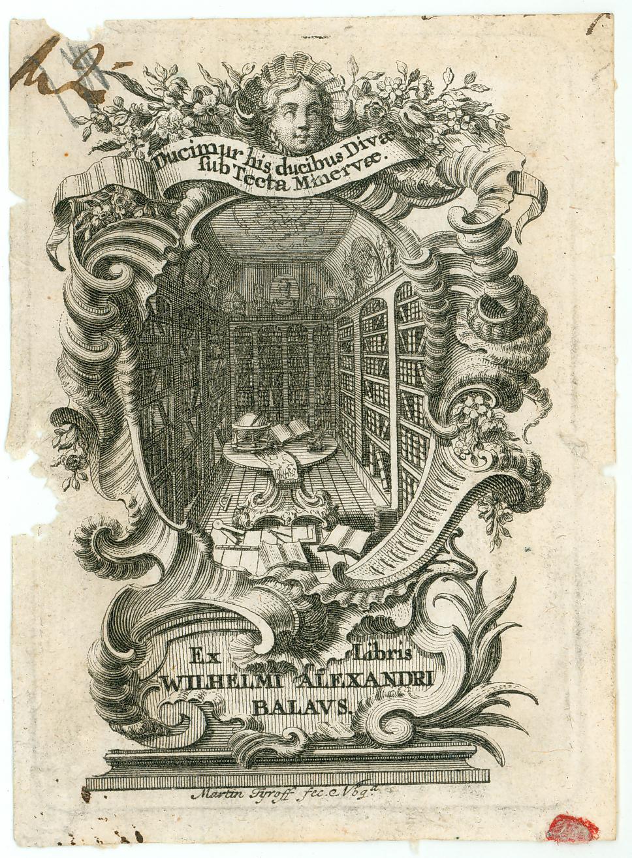 Německé exlibris z poloviny 18. století