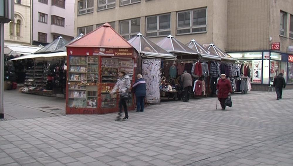 Tržnice v nejkratší brněnské ulici Pohořelec