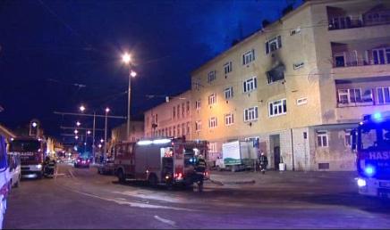 Hasiči likvidovali požár na Táborské ulici v Brně