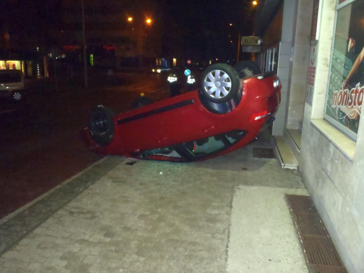 Nehoda se stala v centru Zlína