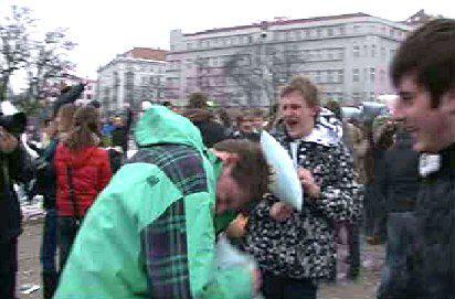 Polštářová bitva v Brně