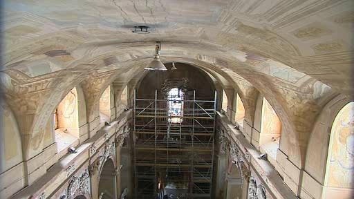 Bazilika Nanebevzetí Panny Maie na Velehradě prochází další etapou rekonstrukce