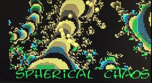 Zvuk z pořadu Noční spektrum zobrazený na počítači ZX Spectrum