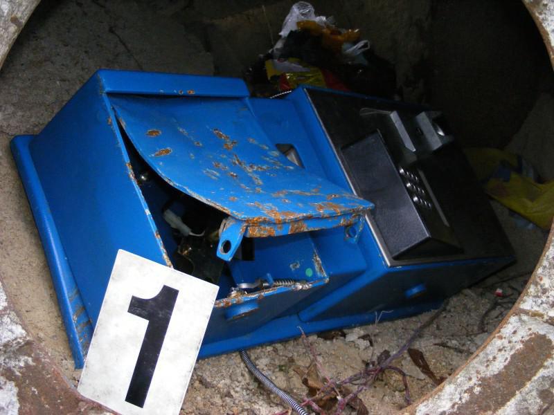 Vykradený telefonní automat