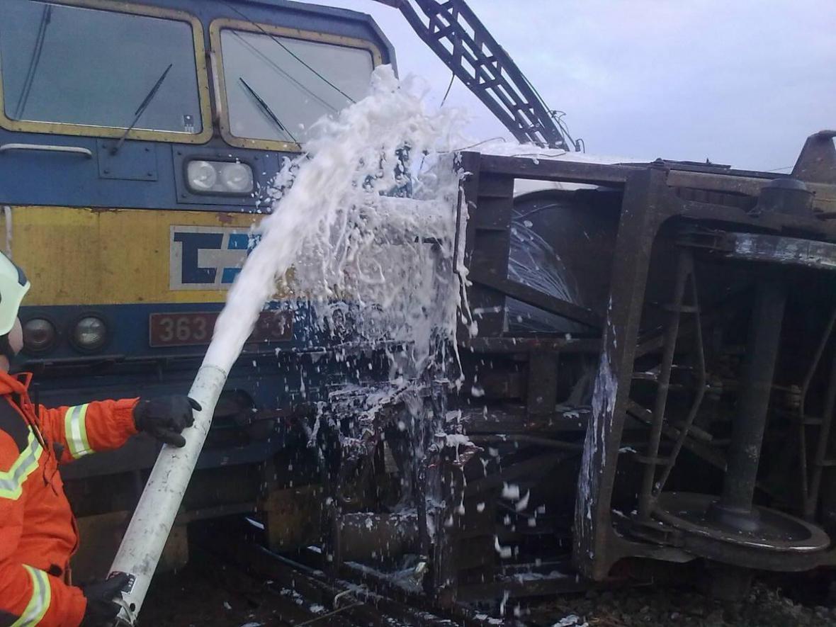 V Brně-Maloměřicích havarovala drážní cisterna