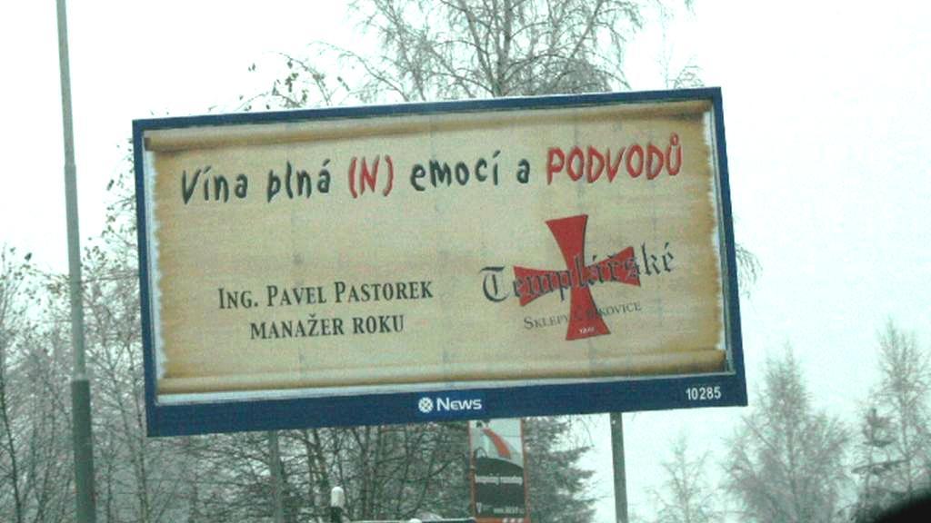 Billboard proti Čejkovickým vinařům
