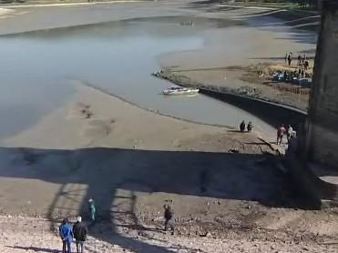 Upuštěná přehrada v Luhačovicích