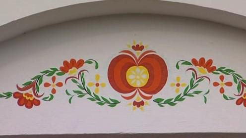 Malba na sklepu v Bořeticích