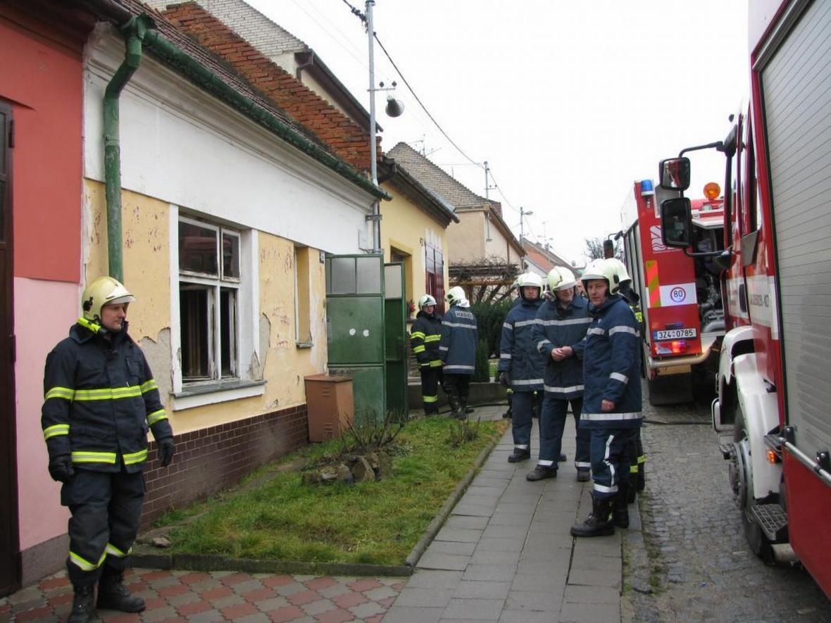 Požár domu v Hluku nepřežil majitel
