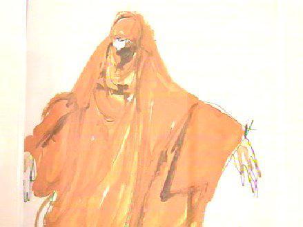 Návrh divadelního kostýmu Inez Tuschnerové