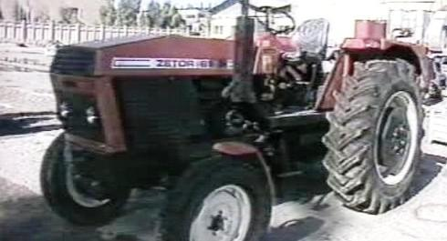 Traktor Zetor v Iráku