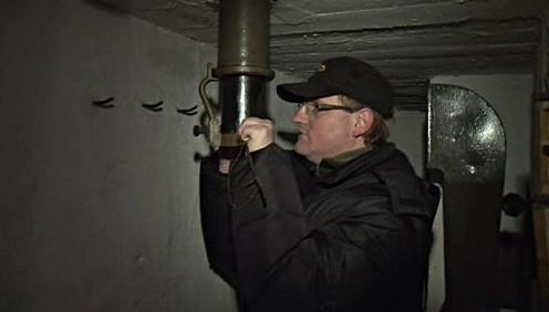 Interiér bunkru ve Vranově nad Dyjí