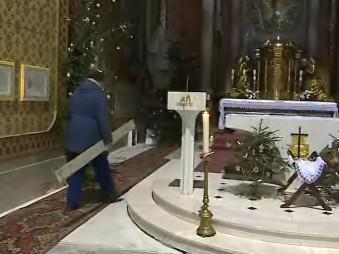 Vánoční výzdoba v bazilice