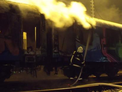 V Horních Heršpicích uhořel ve vagonu bezdomovec