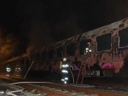 Ve vagonu uhořel bezdomovec