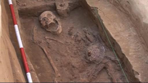 Hrob langobardského válečníka u Kyjova
