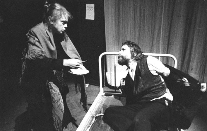 Alena Ambrová v Divadle Husa na provázku 1987