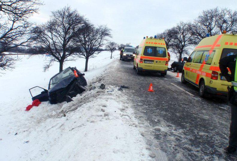 Nehoda u Bystřice pod Hostýnem