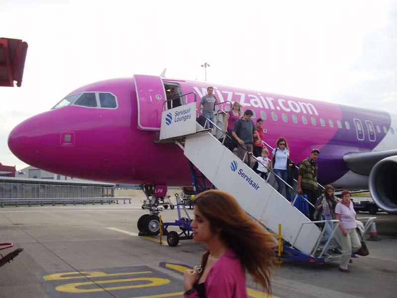 Letadlo společnosti Wizz Air