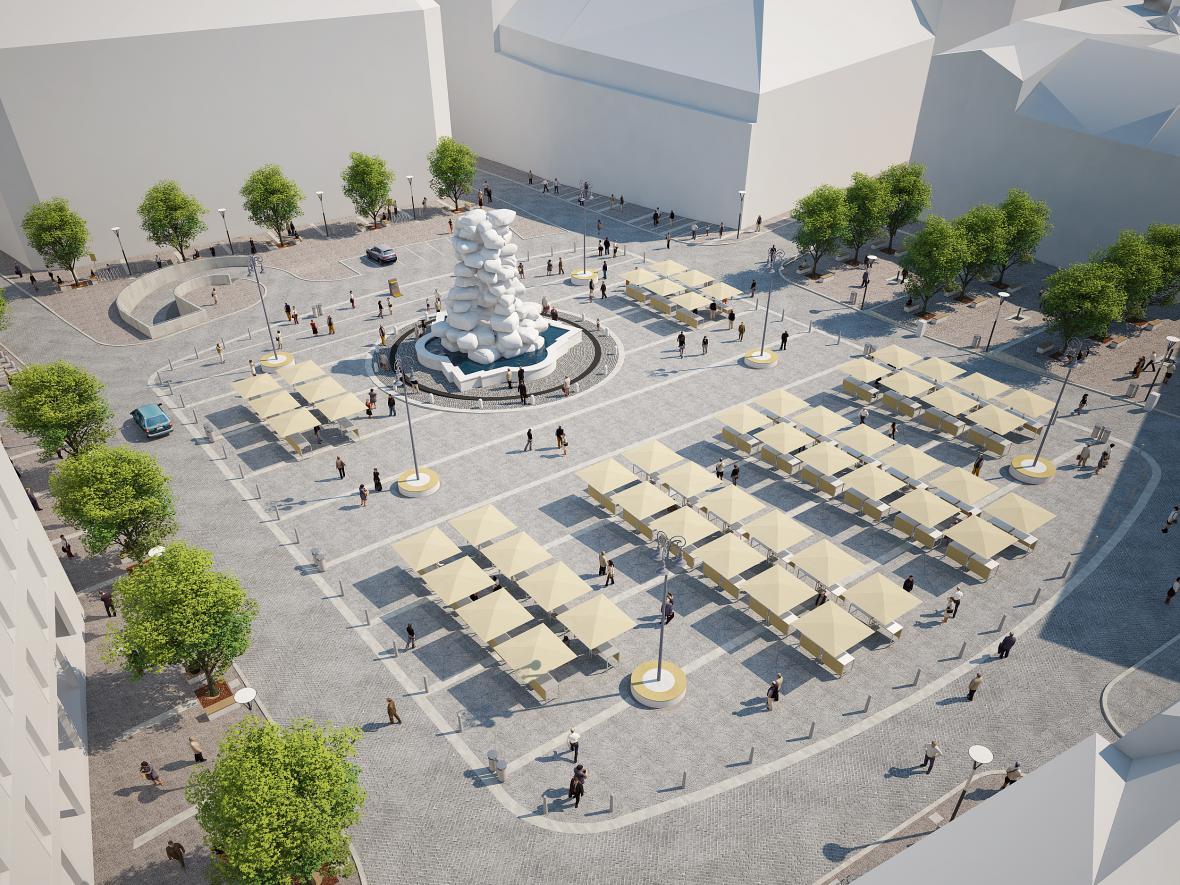 Budoucí podoba Zelného trhu s podzemními garážemi