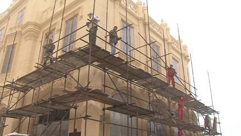 Oprava fasády Lednického zámku